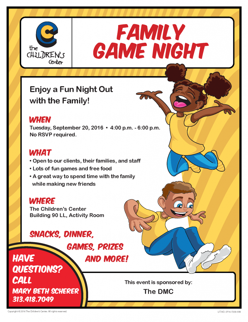 Family Game Night Flyer 0716 7200 588