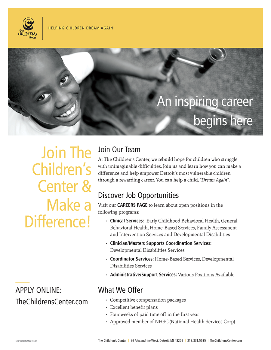 Join Us at Wayne State\'s Job Fair | The Children\'s Center