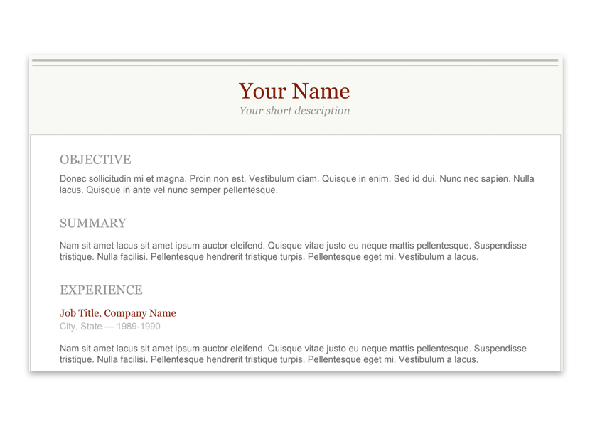 12 Slick Resume Templates For A Polished Professional