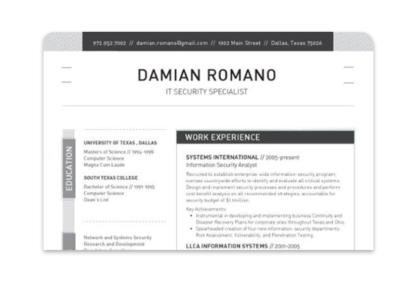 Consulting Finance Engineering And Healthcare Tend To Appreciate This Design Cost 99 Format PDF Mail Hard Copy USE The Loft Resume Template