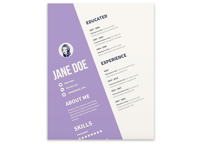 slick resume template